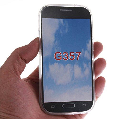 Samsung Galaxy Ace 4 G357 hülle MCHSHOP Ultra Slim Skin Gel TPU hülle weiche Silicone Silikon Schutzhülle Case für Für Samsung Galaxy Ace 4 G357 - 1 Kostenlose Stylus (weiße tiger mit grünen augen (Wh sexy mädchen mit einer hübschen hintern (Sexy girl wit
