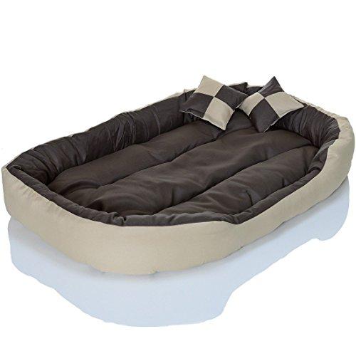 4in1 Hundebett XXL – kuscheliges, waschbares Hundekissen Sofa – Hundekorb Farbe: Creme Gr. L - 5