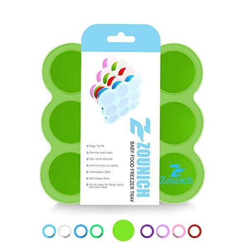Contenedor de comida para bebés y bandeja de silicona con tapa - molde congelado bebé - bebé de silicona fruta - alta calidad sin BPA