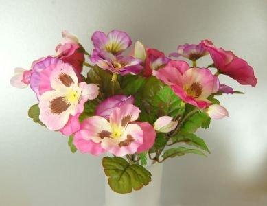 CB Imports 26cm Künstliche Stiefmütterchen Bush, Pink