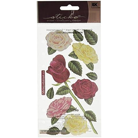 Sticko pergamena adesivi-Rose