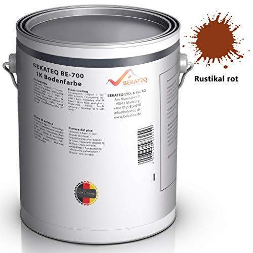 BEKATEQ BE-700 Bodenbeschichtung, 1l Rustikal Rot, Betonfarbe seidenmatt, für innen und außen