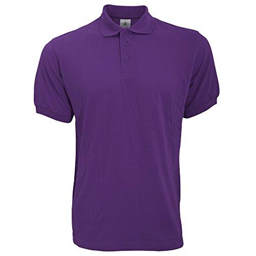 B&C Herren Polo-Shirt Safran Kurzarm Royal