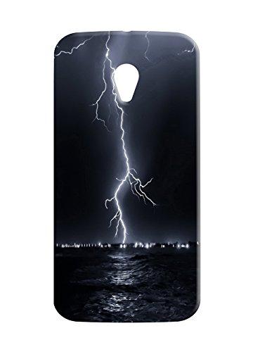 100 Degree Celsius Back Cover for Motorola Moto G 2nd Gen (Thunderstorm Printed