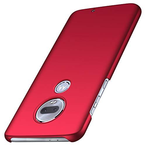 Arkour für Moto G7 Hülle, Moto G7 Plus Hülle, Minimalistisch Ultradünne Leichte Slim Fit Handyhülle mit Glattes Matte Oberfläche Hard Case für Motorola G7/G7 Plus (Glattes Rot)