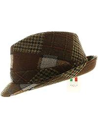 votrechapeau Trilby Hat Pequeño ala–lazo–Patchwork