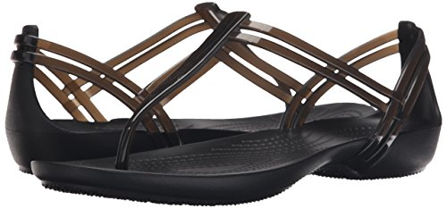 Crocs Women's Isabella T Strap Sandals, (Black), 9 Uk (11 Us)