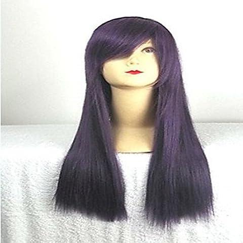 GSP-peluca cosplay púrpura con la explosión lateral de 80 cm de largo pelo sintético pelucas pelucas traje de la historieta de la niña para el , purple