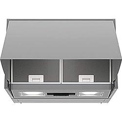 Bosch Serie 2 DEM63AC00 hotte 360 m³/h Semi-intégrée (semi-encastrée) Argent D - Hottes (360 m³/h, Conduit/Recirculation, E, A, C, 62 dB)