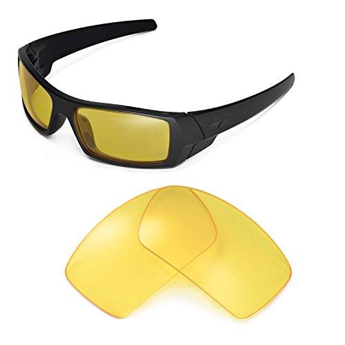 Walleva Ersatzgläser für Oakley Gascan Sonnenbrille - Mehrfache Optionen (Gelb)