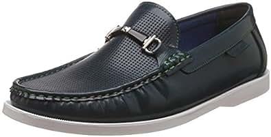Carlton London Men's Pakuna Navy Loafers and Moccasins - 11 UK/India (45 EU)