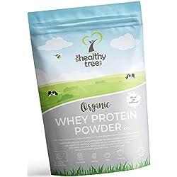 Protéines de Whey BIO en Poudre 600g (Non aromatisée): Riche en acides aminés et en BCAA - 80% de protéine whey bio pures provenant de vaches nourries à l'herbe par TheHealthyTree Company