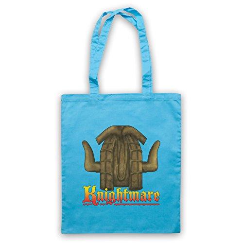 Inspiriert durch Knightmare Kids TV Logo Inoffiziell Umhangetaschen Hellblau