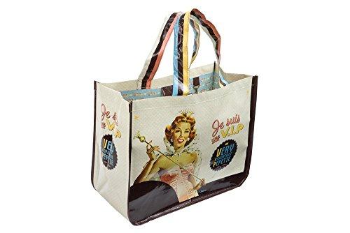 Natives 510380Einkaufstasche mit Geldbörse Polypropylen mehrfarbig 44x 20x 35cm