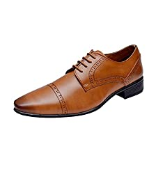 Hirels Men Tan Derby Shoes 8