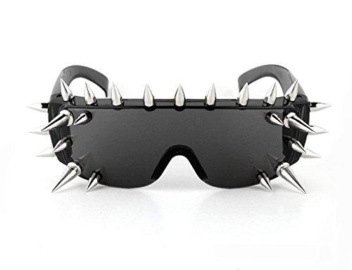 Preisvergleich Produktbild Punk Gothic Sonnenbrille mit Nieten Party Kneipe Show Punkrock Cool Geschenk (Styx)