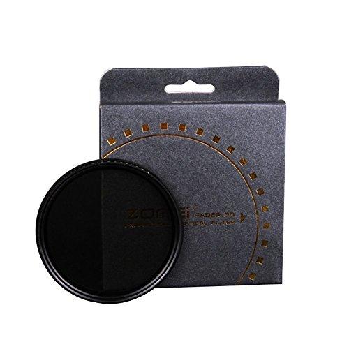 Zomei 55mm ND2–400dunkler Filter, HD, verstellbarer Graufilter, mit Schott-Glas und Aluminiumrahmen