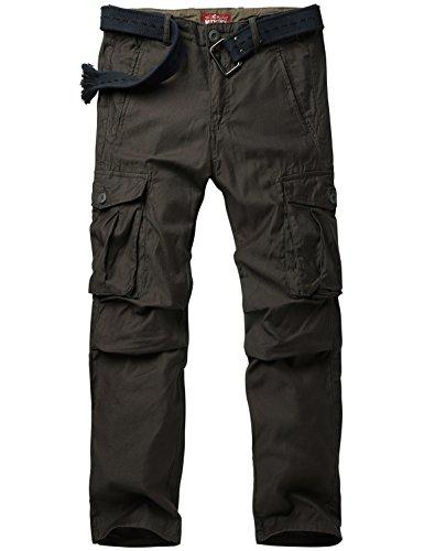 Match Pantalons Cargo pour Hommes #6531 6540 Foncé gris(Dark gray)