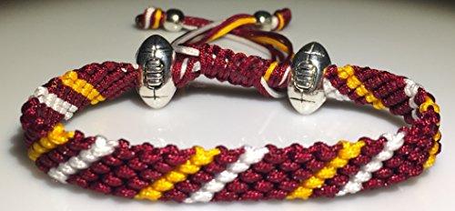 Sportarmband, Mary 's Terrace NFL Ropes - Es ist das ideale Geschenk für jeden Fan des American Footballs und der NFL-Liga. Jede NFL-Farbe ist möglich, somit ist es ein tolles Geschenk für jeden Football-Fan., WASHINGTON REDSKINS