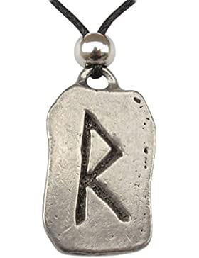 Rad Rune Anhänger Amulett Talisman Zinn Schmuck - Transformation