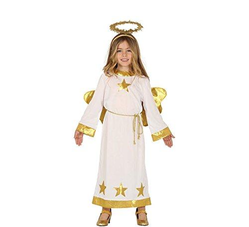 Fiestas Guirca Kinder Kostüm Engel Angela Weihnachten Krippenspiel Fasching (7-9 Jahre)