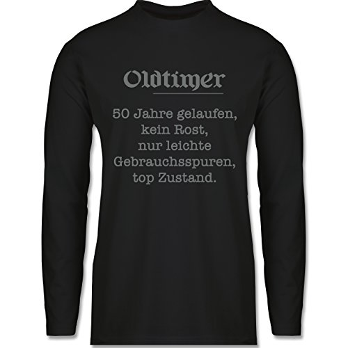 Geburtstag - 50 Jahre Oldtimer Fun Geschenk - Longsleeve / langärmeliges T-Shirt für Herren Schwarz