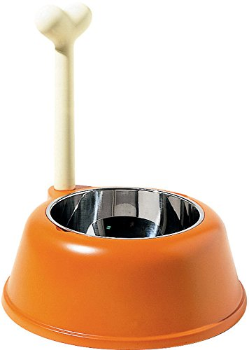 A-di-Alessi-AMMI02-O-Lupita-Ciotola-per-cani-in-resina-termoplastica-con-coppa-in-acciaio-inossidabile-arancio