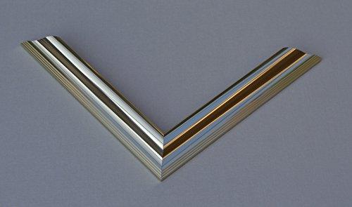 Vogel Design Bilderrahmen Köln - Messing Gold Glanz 24x30cm 30x21cm Hier mit entspiegeltem Kunstglas (Köln Gold 24)