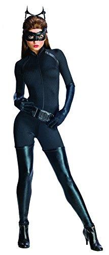 Catwoman Kostüm für Damen schwarzes Superhelden Damenkostüm Batman Gr. XS - L, Größe:L