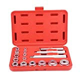 KSTE Ruota in Alluminio 17pcs Bearing Race & Seal Driver Bush Kit Set di Garage Strumento Rossa a Caso