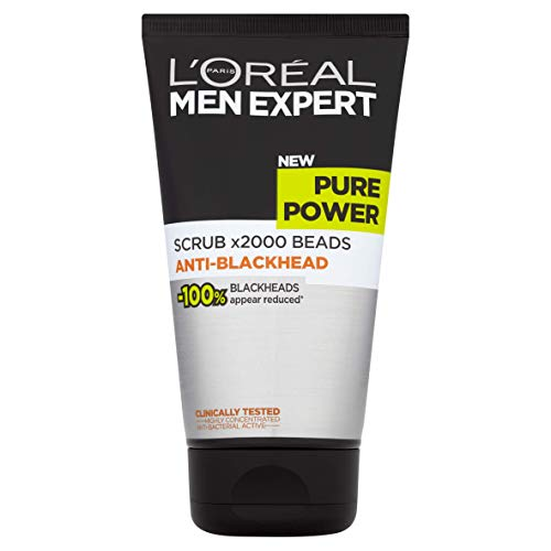 L'Oreal Men Expert Pure Power Blackhead Face Scrub, 1er Pack (1x150ml) -