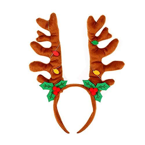 Weihnachten Hairband, Fancy Antlers Elf Jingle Bells Kopf Hoop Kostüm Zubehör CX10089-5Kamel