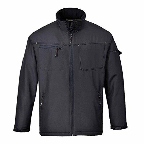 SUW–Zink Softshell Workwear wasserabweisend Leichte Jacke, XXX-Large, schwarz, 1