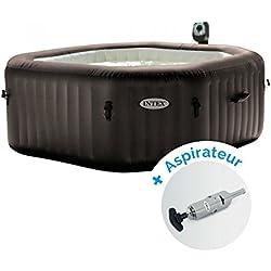 Pack Spa gonflable Intex Pure Spa Jets et Bulles 4 personnes + Aspirateur nettoyeur à batterie