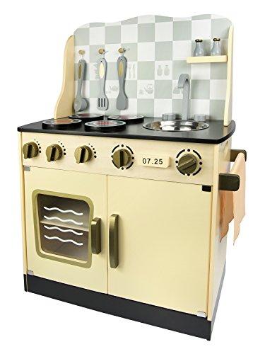 Leomark Cuisine Vintage In Legno Giocattolo Per Bamibni Gioco G'imitiazione Educazione Tavola Divertimento Accessori Da Cucina Alta Qualità Oro