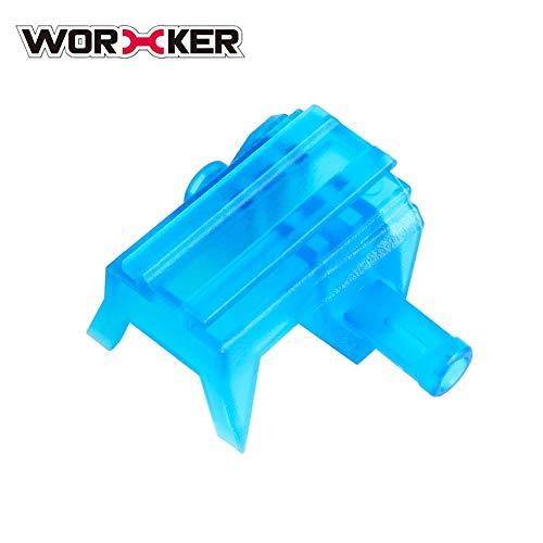 Preisvergleich Produktbild WORKER Transparent Blau Top Schiene Adapter Basis für Nerf Stryfe ABS Kunststoff Modifizierte Spielzeugpistole Zubehör Liefert