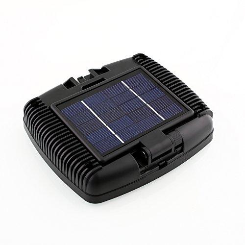 amzdeal 30 LED Solarleuchte Wandleuchte Solar Lampe mit Bewegungsmelder für Außen Garten Garage IP44 Wasserdricht Kaltweiß Schwarz - 5