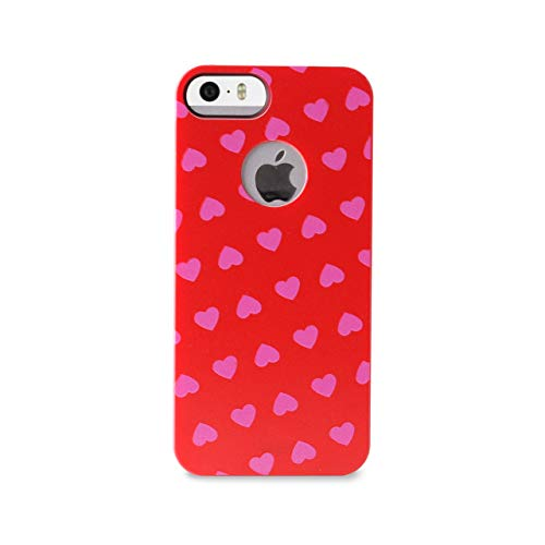 Puro IPC5HEARTPNK Heart Cover mit Screen Protector für Apple iPhone 5/5S pink (Pink Protector Screen 5s)