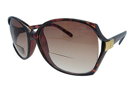 Cheri - Occhiali da sole con lenti bifocali colorate, stile vintage, protezione UV400 100%