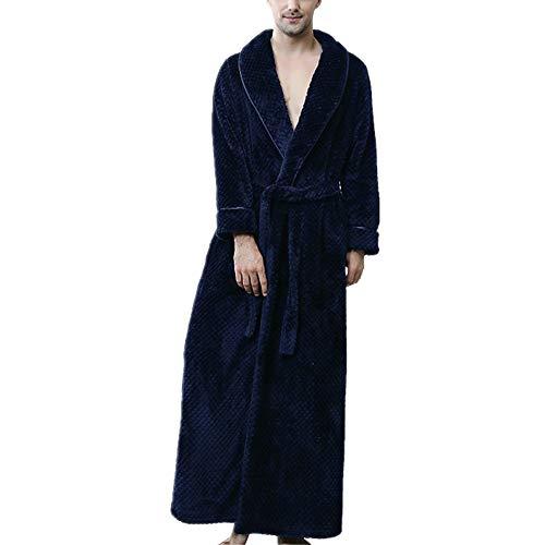 Albornoz para Hombre, Pijama de Microfibra (100% poliéster) con Cuello en V,...