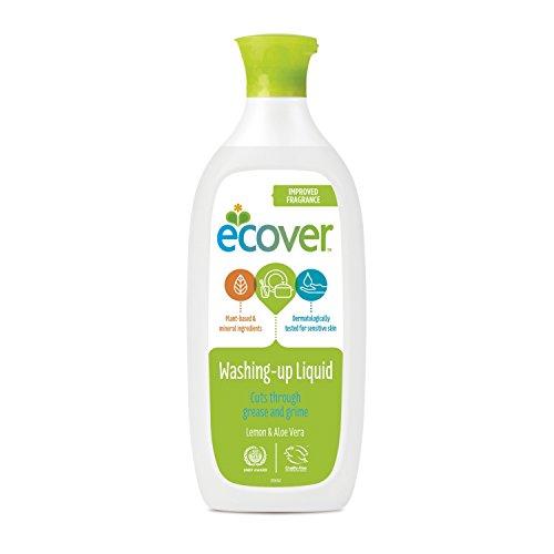 Ecover 285441 Geschirrspül mittel mit Zitrone, 500 mL, EN, VOC 5,51% Ecover Geschirrspülmittel