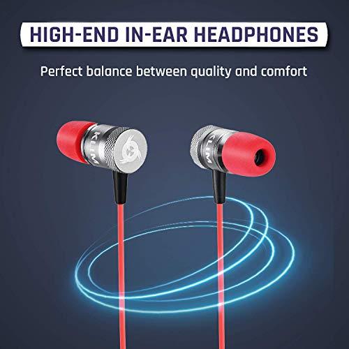 KLIM Fusion In-Ear-Kopfhörer mit Memory Foam, Rot - 2