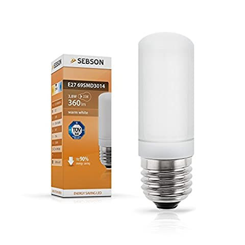 SEBSON® E27 LED 3,8W Lampe - vgl. 40W Glühlampe - 360 Lumen - E27 LED Warm Weiß - LED Leuchtmittel 160°