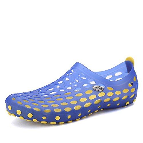 Xing Lin Chaussures D'Été Hommes Les Chaussures Pour Enfants Garçons Chaussures Occasionnels Trou D'Été Des Grands Garçons Enfants Filles Chaussures De Plage Nouveaux Étudiants Marée Sandales 12058 blue