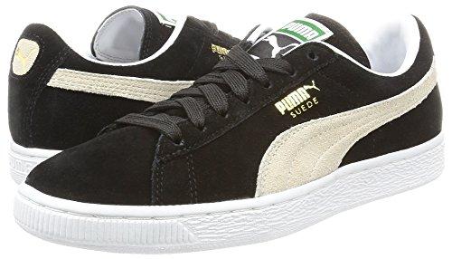 Puma Suede Classic+, Unisex-Erwachsene Sneaker, Schwarz/Weiß, 45 EU -