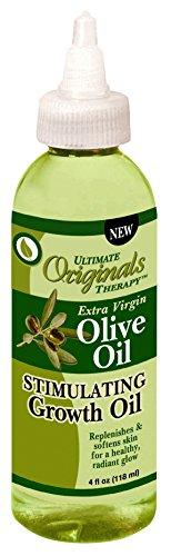 Huile pour stimuler la croissance capillaire - A l'huile d'olive extra vierge - Favorise croissance et éclat sain - 118 ml