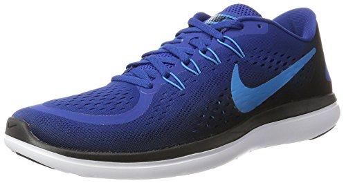 Nike Herren Flex 2017 Rn Laufschuhe, Blau (Gym Blue/Blue Orbit-Black-White), 45 EU