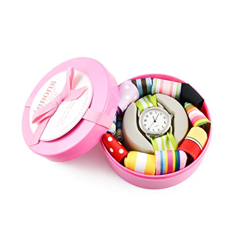 Cupcackes & Cartwheels - Montre à rubans interchangeable (Pink)