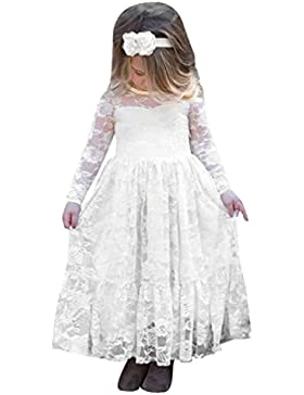 Niñas vestido, Sonnena Toddler Kids Niñas vestidos de manga larga vestidos de princesa de encaje boda formal vestido...