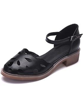 Sandalo donna estate Grezzo con il tendine tardi in scarpe da donna